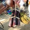 Przed podróżą trzeba kupić bilet. W przypadku słonia składa się z lokalnych przysmaków. Banana i bambusa.