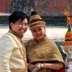 ...i laotańska młoda para, która przyszła w strojach weselnych do świątyni na sesję foto. Podłączyłem się :)