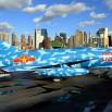 Samoloty z czasów zimnej wojny stoją na pokładzie.