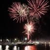 Na koniec każdego koncertu mamy specjalny pokaz sztucznych ogni. Tu strzelamy nad portem jachtowym w Krynicy Morskiej.