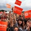 Tłumy widzów towarzyszyły nam w tym roku na każdym kroku! To zdjęcie z finału w Jeleniej Górze. Koniec sierpnia 2013. Fotka spod samej estrady.