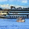 Są eleganckie statki wycieczkowe...