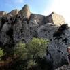 Najwyżej położony zamek Queribus obk Grau de Maury.