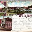 Litografia ze Swobnicy (Wildenbruch), wioski niedaleko Szczecina - 1 czerwca 1904 roku.