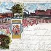 Litografia z Dąbia (Alt-Damm), dzielnicy Szczecina - 5 kwietnia 1900 roku.