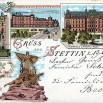Litografia ze Szczecina (Stettin) - 13 października 1898 roku.