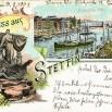 Litografia ze Szczecina (Stettin) - 14 sierpnia 1901 roku.