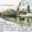 Litografia ze Stoczni Vulcan (Stettin) - 14 września 1901 roku.