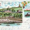 Litografia z Gocława (Weinberg - Winna Góra), dzielnicy Szczecina - 18 czerwca 1900 roku.