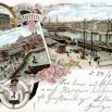 Litografia ze Szczecina (Stettin) - 26 lipca 1899 roku.