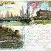 Litografia ze Szczecina (Stettin) - 28 marca 1898 roku.