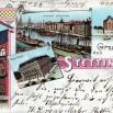 Litografia ze Szczecina (Stettin) - 30 listopada 1898 roku.