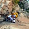 Schodzimy na dno kanionu. Miesiące przygotowań i zbierania sprzętu. Na linie prof. Marek Pozzi - geolog.