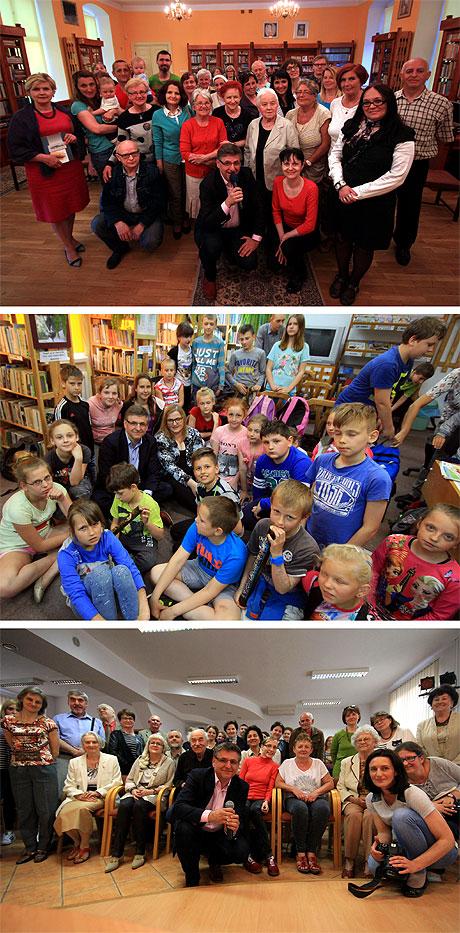 Sama przyjemność czyli spotkania z czytelnikami. Kolejno od góry: Trzebiatów, Ostrowice oraz Kędzierzyn-Koźle. Serdecznie dziękuję!