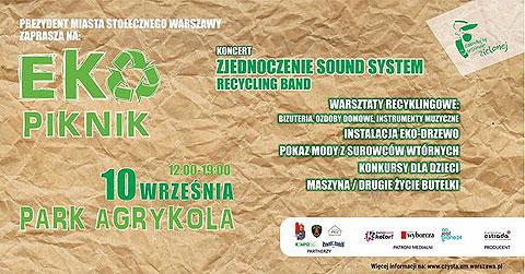 Eko-Piknik, Warszwa, Agrykola, 12.00-19.00, 10 września 2017. Prowadzenie: Roman Czejarek.