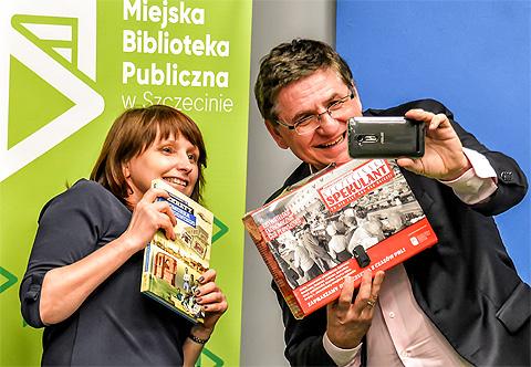 Piątek 19 stycznia 2018 i spotkanie z czytelnikami w Klubie Pro Media w Szczecinie. Sekrety Pomorza Zachodniego i gra Szczeciński Spekulant. Roman Czejarek.