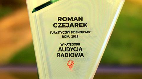 Turystyczny Dziennikarz Roku 2018. Nagroda Polskiej Organizacji Turystycznej przyznana po raz pierwszy. Wręczenie nastąpiło w czasie uroczystej gali w Kopalni Soli Wieliczka 1 marca 2019. Roman Czejarek - dziękuję!