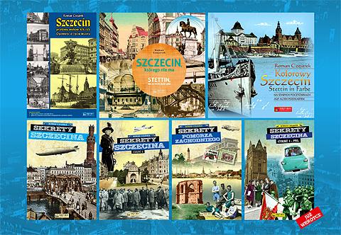 Moje najnowsze książki o Szczecinie. Na dole po prawej premierowe Sekrety Pomorza Zachodniego i juz zapowiadane Sekrety PRL-u. Polecam!