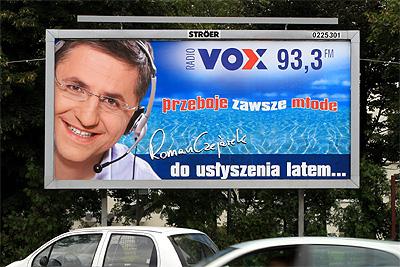 2007-2011, trzy lata pracy dla ZPR SA czyli Radio VOX FM. Takie miałem bilboardy w całej Polsce.